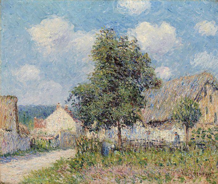 Gustave Loiseau~Bauernhaus in Vaudreuil von finemasterpiece