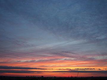 Zonsondergang boven Toronto van Jasper H