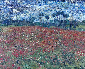 Champs avec coquelicots, Vincent van Gogh sur