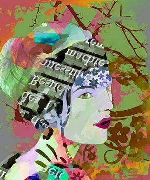 Novemberfrau abstrakt von Marion Tenbergen