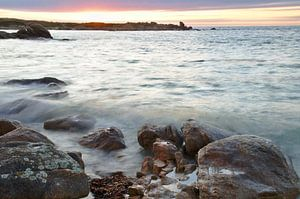 High Tide Sunset Rocks van