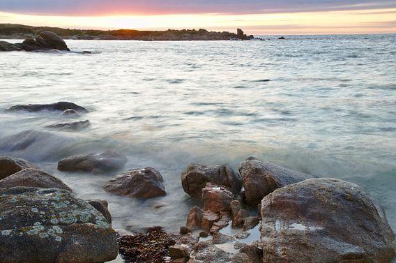 High Tide Sunset Rocks