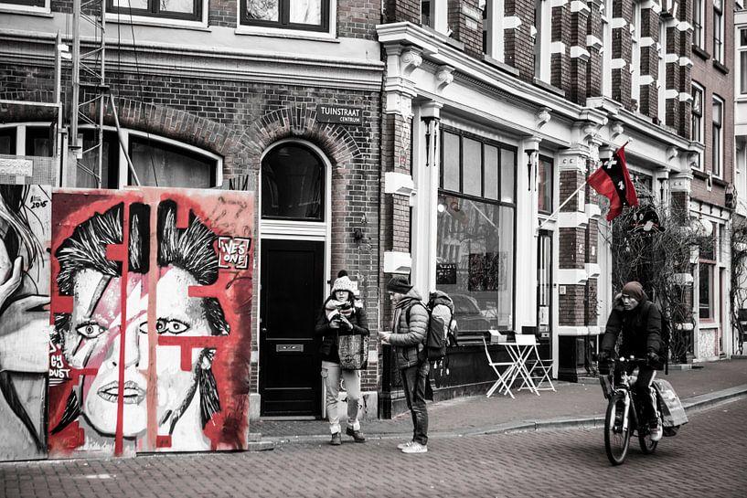 David Bowie Street Art Amsterdam  van PIX URBAN PHOTOGRAPHY