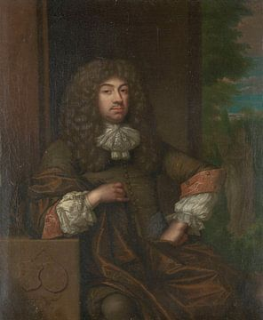 Portrait de Jan Boudaen Courten, Caspar Netscher sur