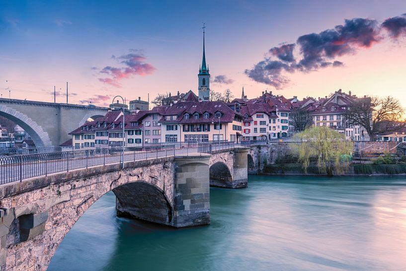 Oude binnenstad van Bern van Leon Brouwer