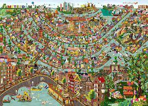 Amsterdam - kijkplaat van
