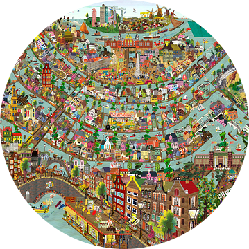 Amsterdam - kijkplaat van Studio POPPY