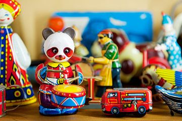 Ouderwets blikken speelgoed van Ivonne Wierink