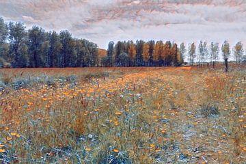 Blühende Wiese von Paul de Vos