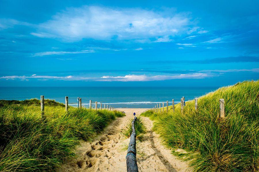 Strandopgang van Tom de Groot