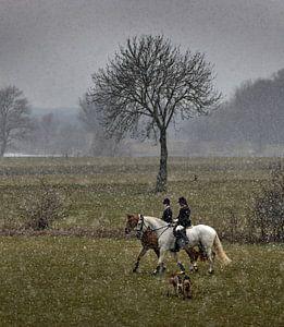 Slipjacht in de sneeuw