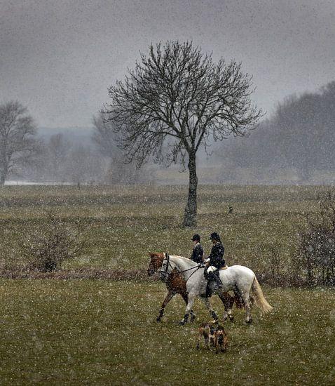 Slipjacht in de sneeuw van Harrie Muis