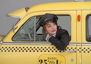 New York Taxi avec Sabine sur Willem van Holten