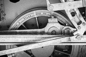 Stoomtrein, Krupp 040T 1751 uit 1937, Anduze (GARD) Frankrijk van