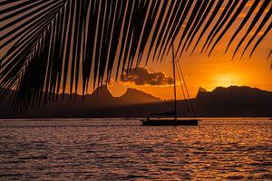 Zonsondergang Tahiti