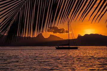 Zonsondergang Tahiti sur Ralf van de Veerdonk