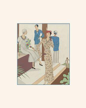 Das Wunder | Historischer Art Deco Modedruck | Vintage Anzeige in neuer moderner und schicker Jacke von NOONY