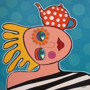 Teapotgirl von Yvonne Klaassens