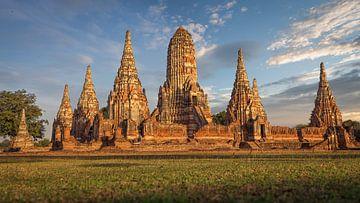 Tempel in Ayutthaya Thailand von Edwin Mooijaart