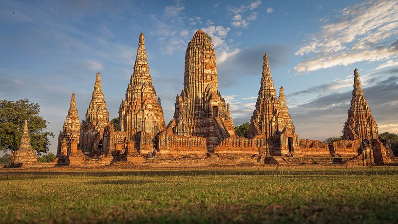 Tempel in Ayutthaya Thailand van Edwin Mooijaart
