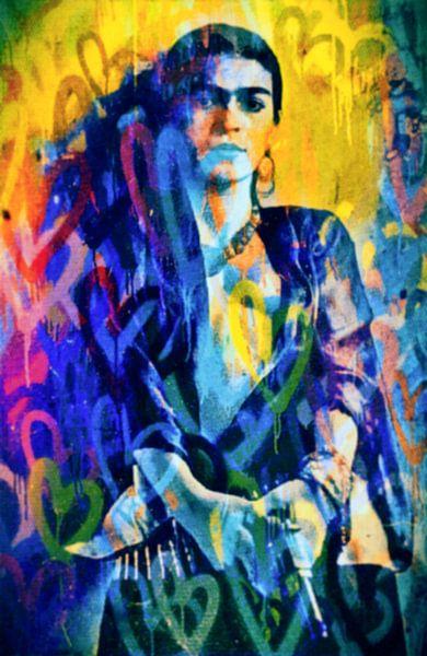 Frida  Love Pop Art PUR van Felix von Altersheim