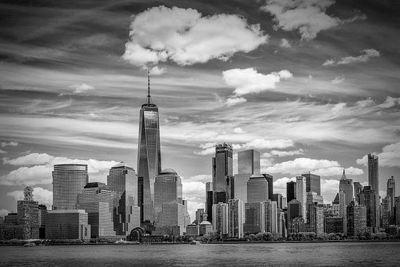 NEW YORK CITY Manhattan Skyline & Hudson River