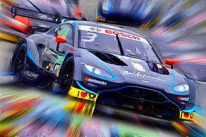 Aston Martin on the Race Track