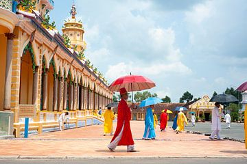 Cao Dai Tempel in Vietnam van Sebastiaan Hamming