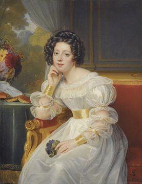 Porträt einer jungen Frau, LOUIS HERSENT - 1830 von Atelier Liesjes
