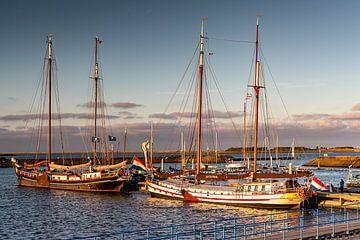 des voiliers au soleil sur Bert ten Brink