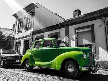 Grüner Austin A40 Devon Oldtimer aus Devon von Daan Duvillier