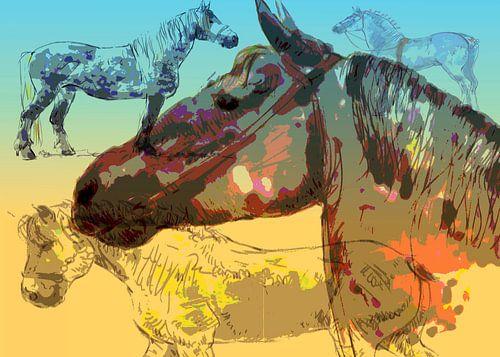 werkpaarden, heavy horses van