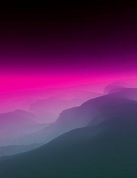 Mooie zonsondergang 3 van Angel Estevez