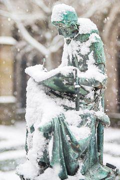 Beeld in de sneeuw van Portrait of Holland
