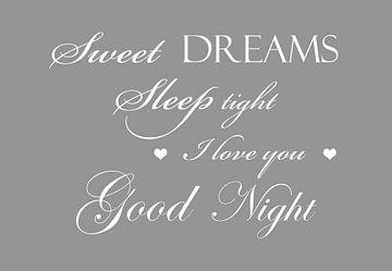 Sweet dreams - Licht grijs van Sandra H6 Fotografie