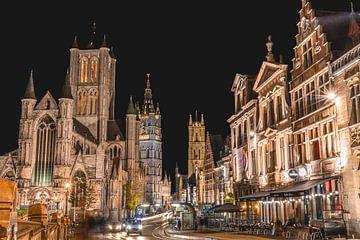 3 torens in 1 beeld, Gent, België van Jonas Gosseye