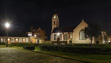 Oude kerk Katwijk aan zee van Dirk van Egmond