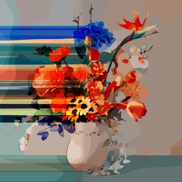 """Stilleven met een boeket van bloemen """"Faded by you II"""" van The Art Kroep"""