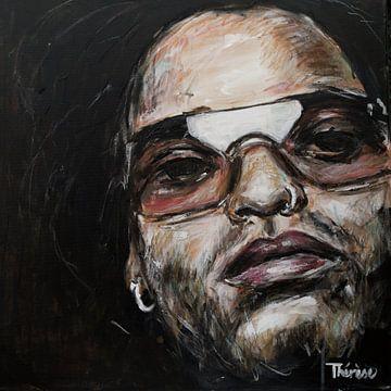 Portret van Lenny Kravitz, Leonard Albert Kravitz van Therese Brals