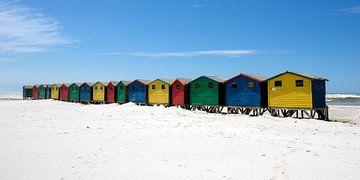 Farbige Strandhäuser  von Jolanda van Eek