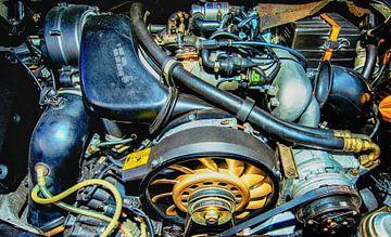 Porsche der Maschinenraum. von Brian Morgan
