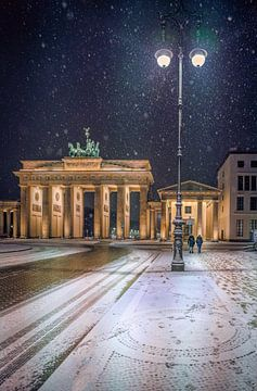 Sneeuw in Berlijn van Iman Azizi