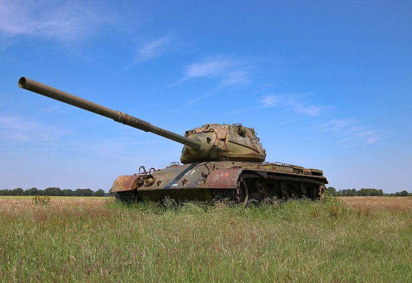 M47 Patton leger tank kleur van Martin Albers Photography
