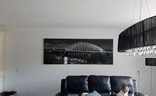 Kundenfoto: Panorama Waal Brücke Nijmegen schwarz / weiß von Anton de Zeeuw, auf leinwand