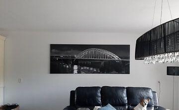 Klantfoto: Panorama Waalbrug Nijmegen zwart/wit van Anton de Zeeuw