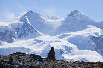Monte Rosa , Uitzicht vanaf Gornergraanstiegt, Zermatt, Zwitserland van Torsten Krüger