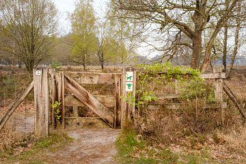 Toegangspoort begrazingsgebied van Johan Vanbockryck