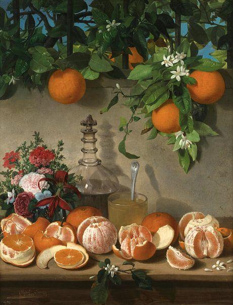 Stilleben von Orangen, Rafael Romero Barros von Meesterlijcke Meesters