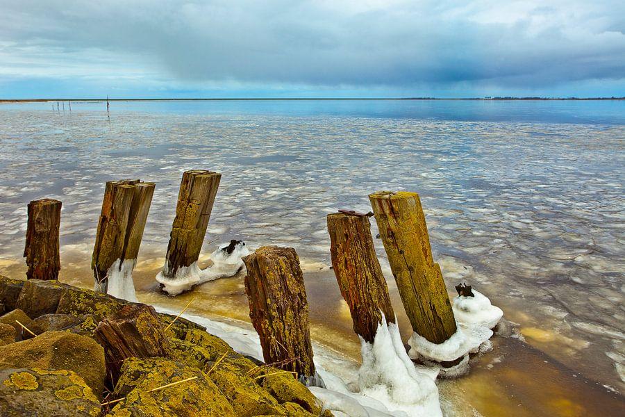 Winter Lauwersmeer, Nederland van Peter Bolman