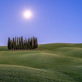 Volle Maan in Toscane II van Teun Ruijters